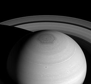 PIA18274-Saturn-NorthPolarHexagon-Cassini-20140402
